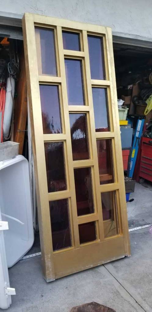 Gold Anodized Aluminum Door Set
