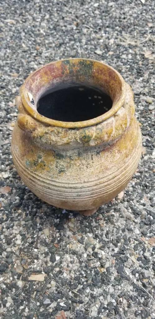 Lg Terracotta Vase W/ Rope