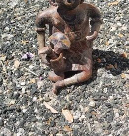 Terracotta Aztek Man Sitting