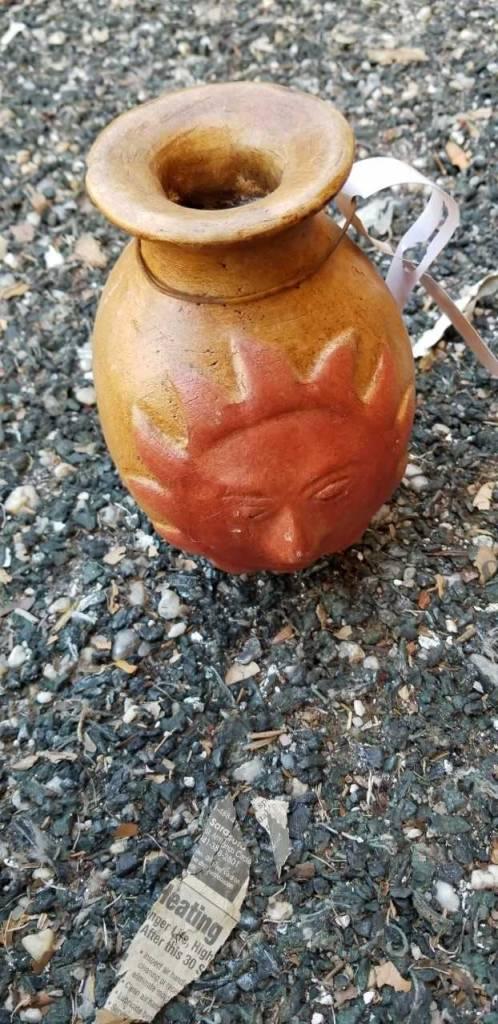 Terracotta Red Sun Vase