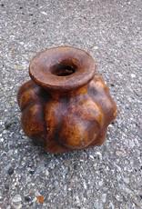 Sm Terracotta Squash Vase