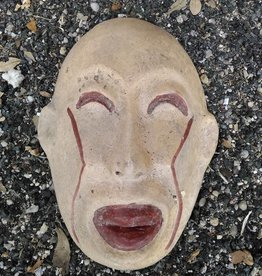 Lg Terracotta Tiki Mask