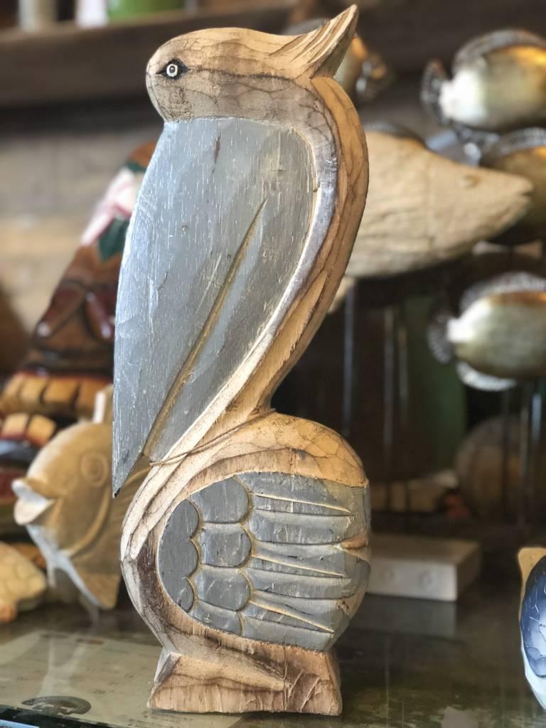 Carved Wood Pelican