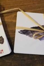 Gyotaku Print Post Cards
