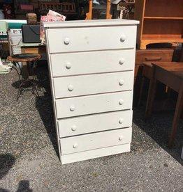 (6) Drawer White Dresser