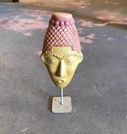 Terracotta Mask On Stand