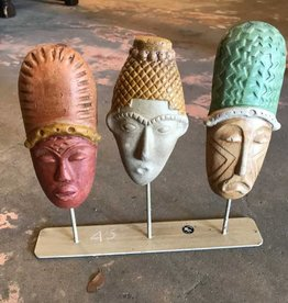 Terracotta Mask On Stand (3)