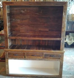 Reclaimed Cypress Bar With Hutch