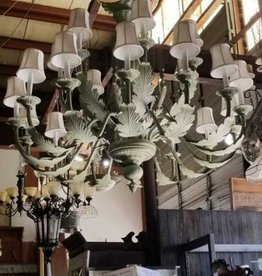 Lg Green Leaf Chandelier