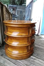 Round Side Table w/ Drawers