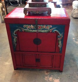 Red Indonesian Chest/Cabinet