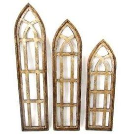 """Lg Forli Wood Window 53""""H x 12""""L x 1""""W"""