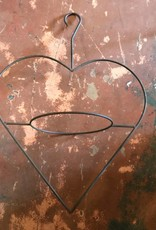 Iron Hanging Heart Planter