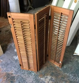 Small Tri-fold Wooden Shutters