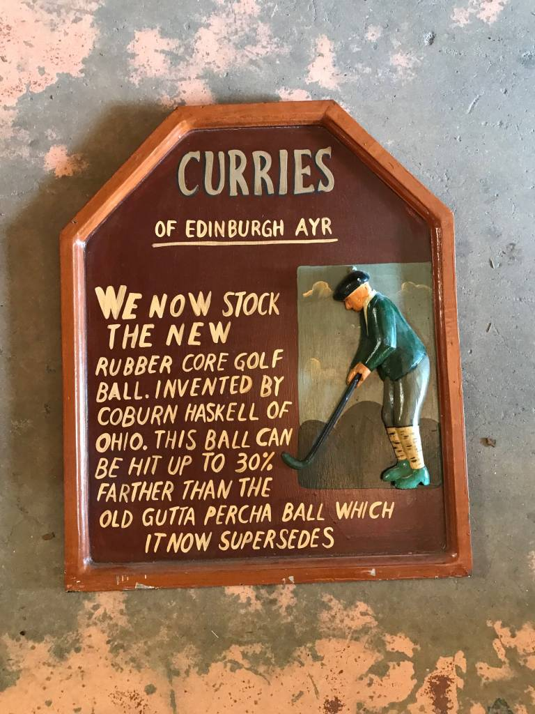 Curries Golf Sign