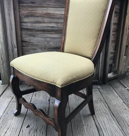 Wooden Yellow cushion chair