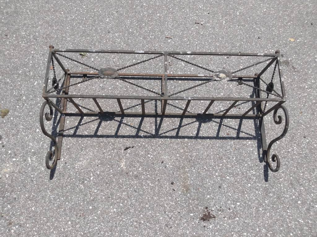 Black Iron Planter