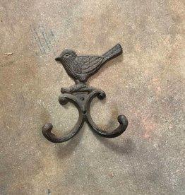 Rust Iron Bird Double Hook