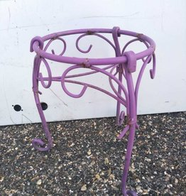 Small Metal Plant Stand Purple