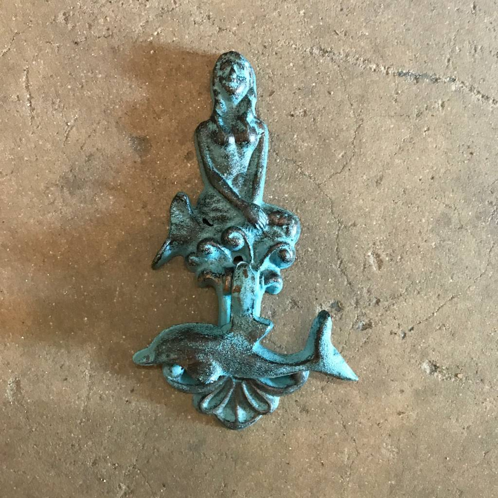 Mermaid W/ Dolphin Door Knocker