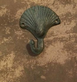 Antique Bronze Shell Single Hook