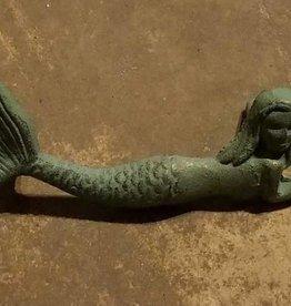 Antique Bronze Mermaid Drawer Pull