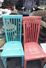 Colored Teak Chair