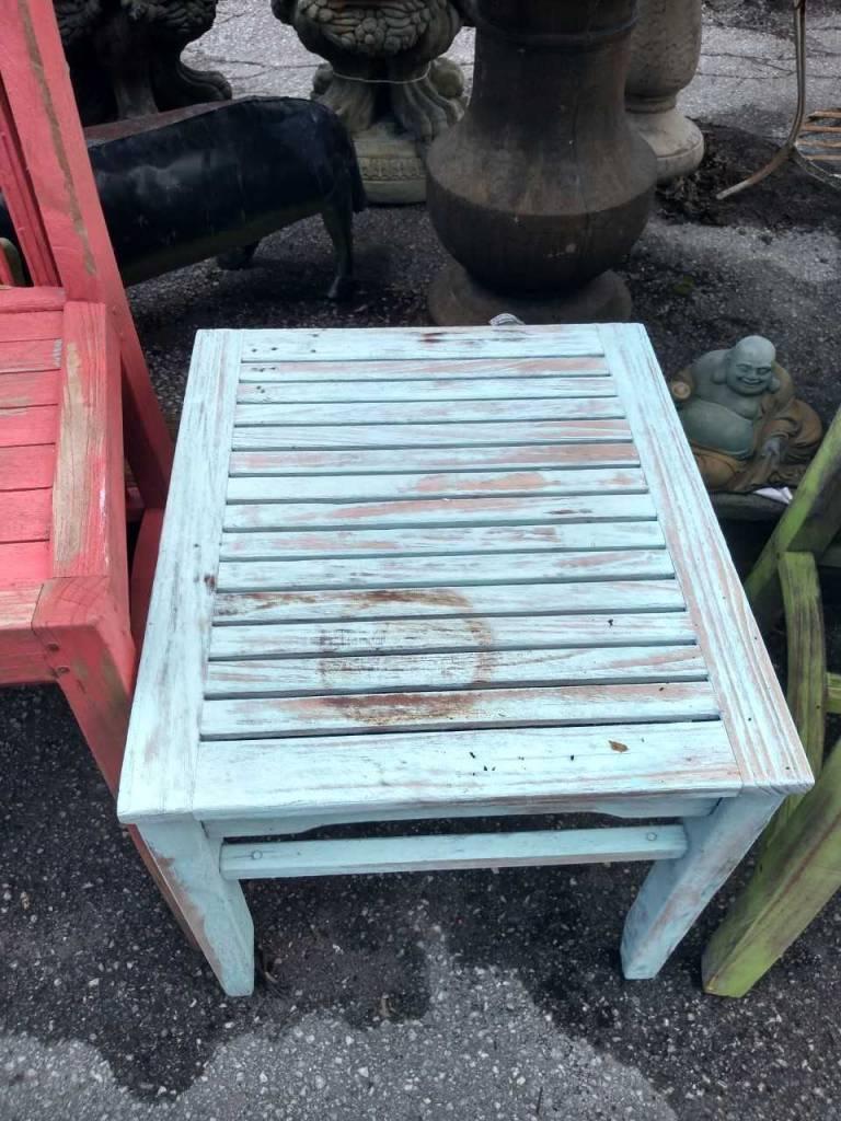 Blue Teak Side Table