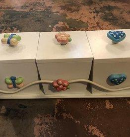 White Decorative Storage Boxes