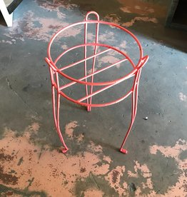 Pink Iron Plant Stand