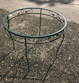 Green Round Iron Table w/ leaves