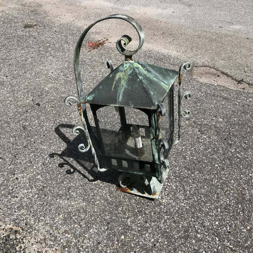 Copper Post Light