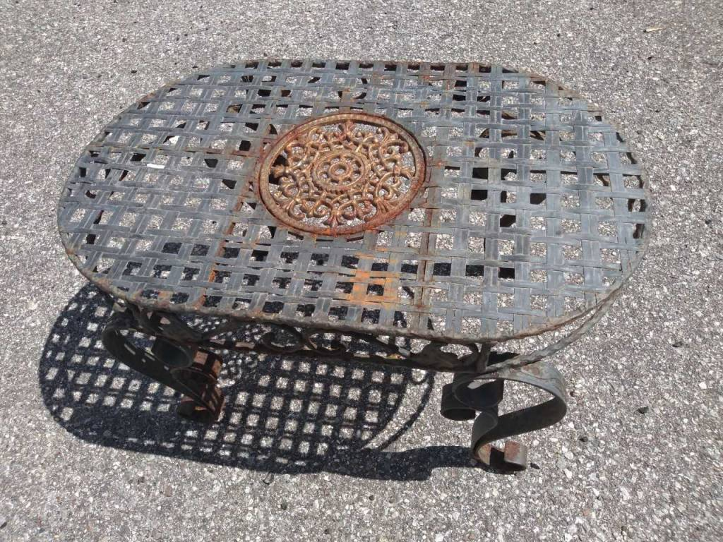 Cast Aluminum Table