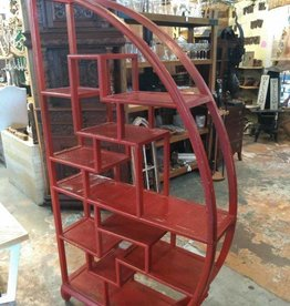 Asain Geometric Red Shelf