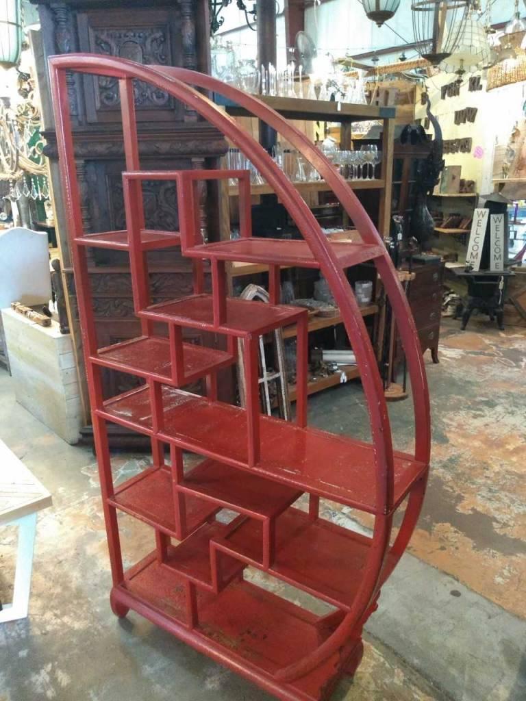 Asain Geometric Red Shelf