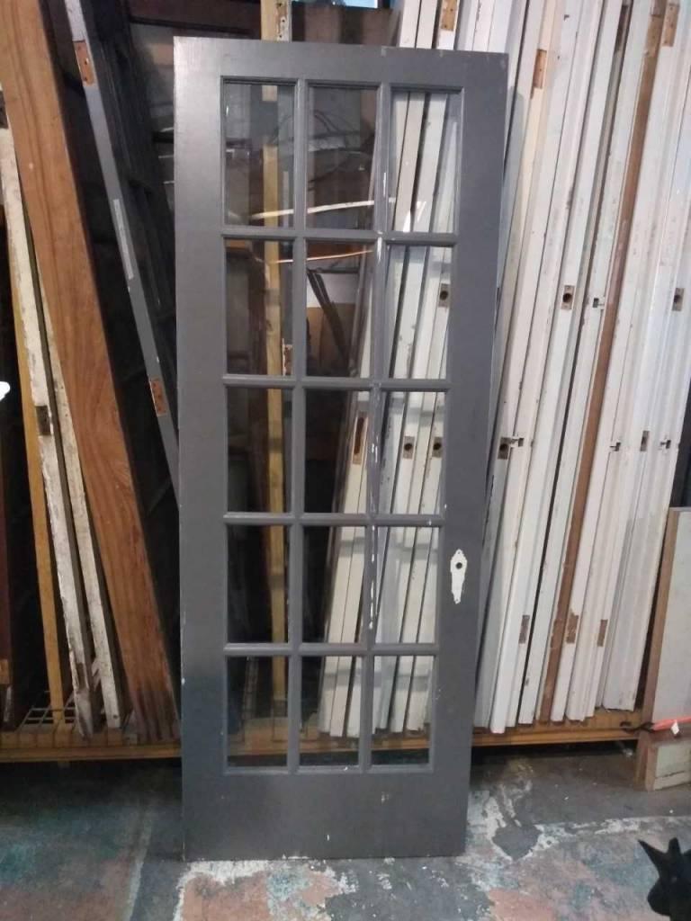 15 Pane Glass Door  29 3/4 x 80