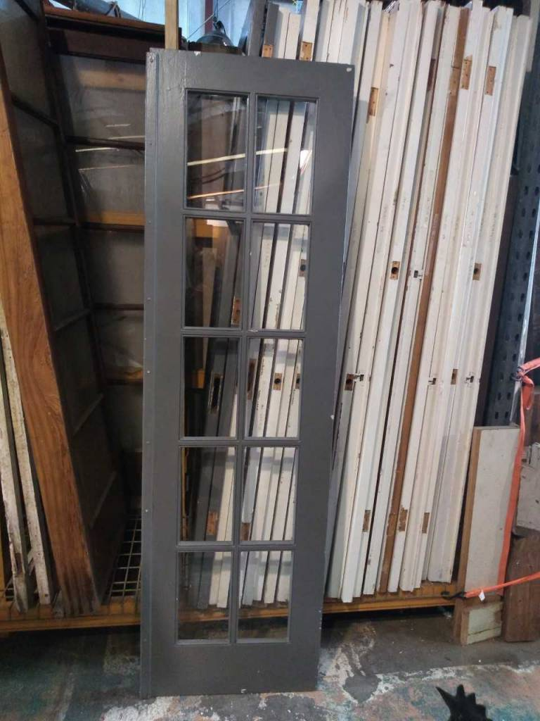10 Pane Glass Door Right  24 1/8 x 82 1/4