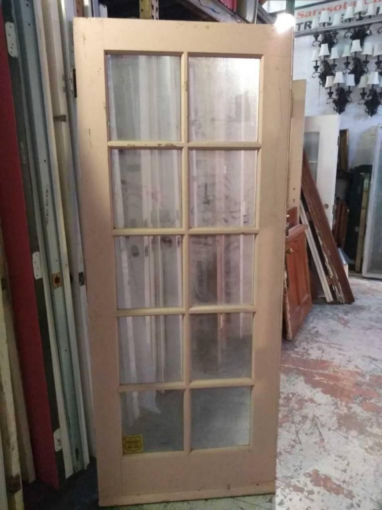 10 Panel Glass Door 32 1/2 x 80