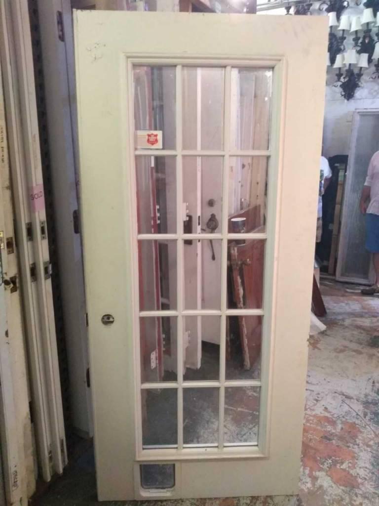 15 Panel Glass Door 79 X 36 Sarasota Architectural Salvage 1093
