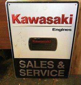 Kawasaki Sales and Service Sign