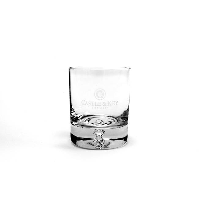 C&K Bubble Logo Rocks Glass