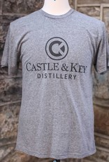 Castle & Key Vintage Gray Logo Tee