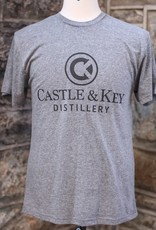 Castle & Key Vintage Gray Logo Tee