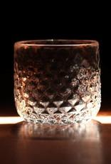 Pretentious Glass Company Castle & Key Pineapple Rocks Glass