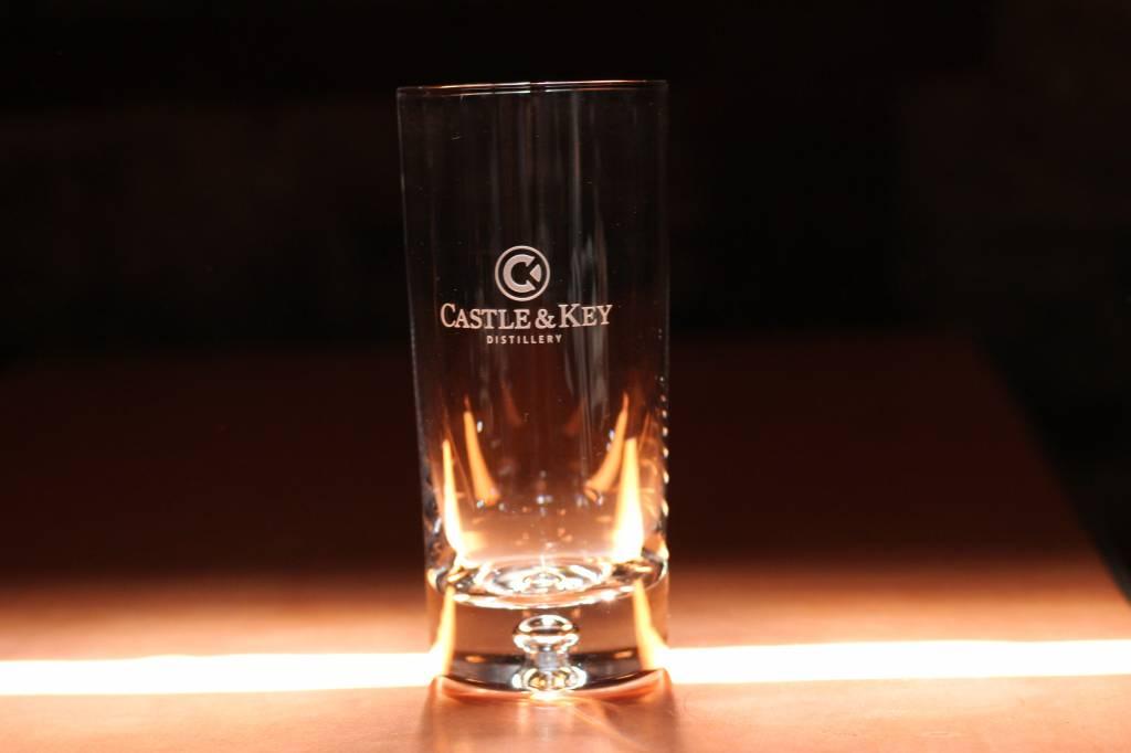 Bubble Logo Highball Glass