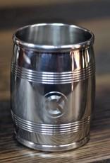 """ASA Lexington Silver 4"""" Slim Pewter Barrel Beaker"""