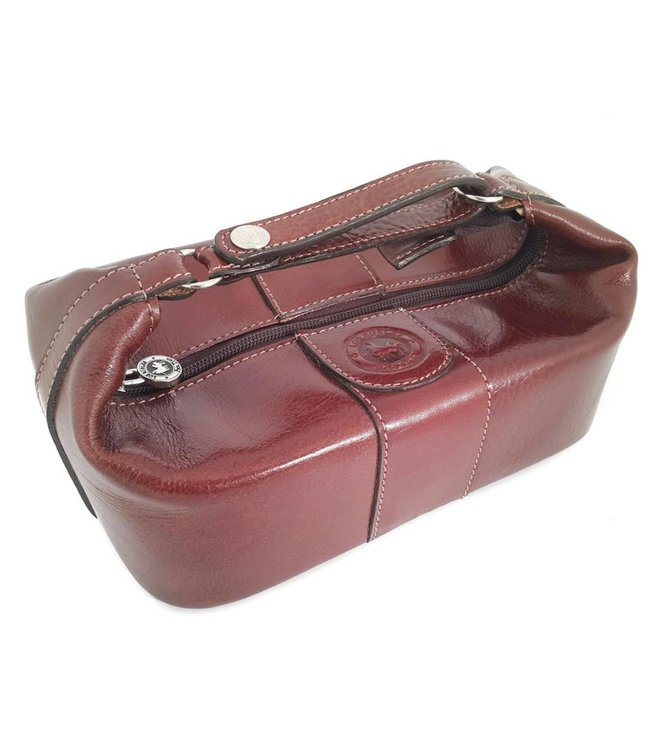 Free US Shipping-Cow Leather Toilet Bag Brown - the OMBU store 4c869f1087c68