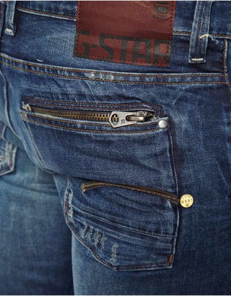 G-Star Raw Attac Low Straight - Med Aged Destroy