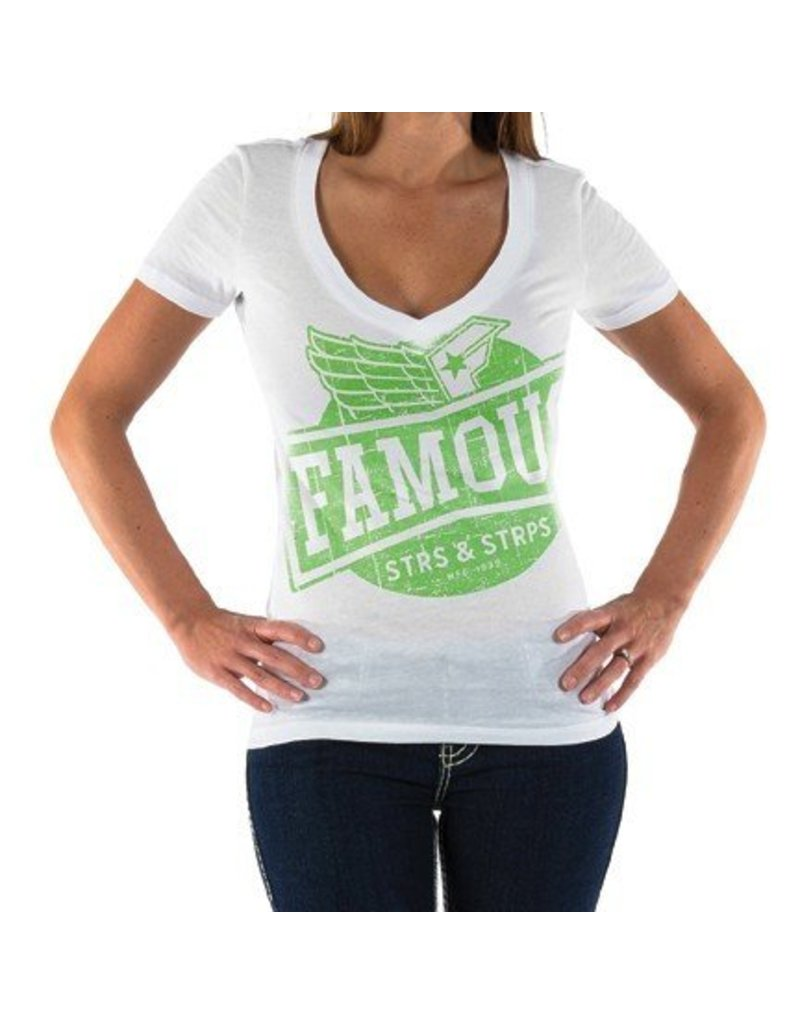 Famous Stars & Straps High Flyer VNeck - T-Shirt - White -