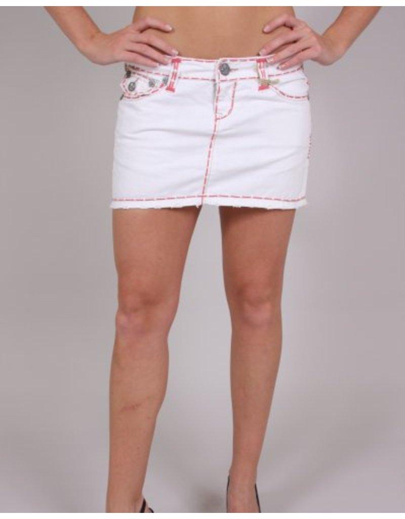 Laguna Beach Laguna Beach Rose Stitch White Mini Skirt -
